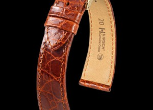 Hirsch Watch Strap In Crocodile at Sonning Vintage Watches