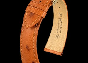 Hirsch Watch Strap In Ostrich at Sonning Vintage Watches